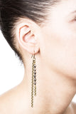 Basaltic Earrings - Brass 2