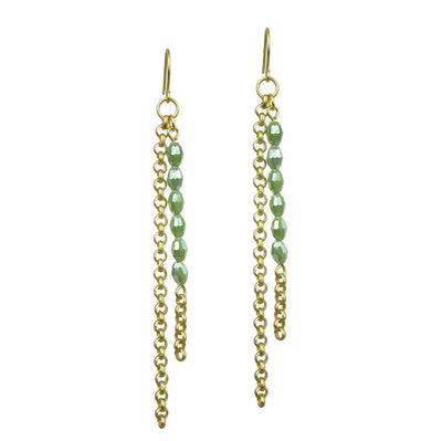 Basaltic Earrings - Sage