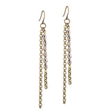 Basaltic Earrings - Brass