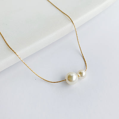 Billie Pearl Choker – Gold