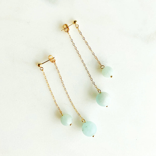 Carina Double Sided Aquamarine Earring