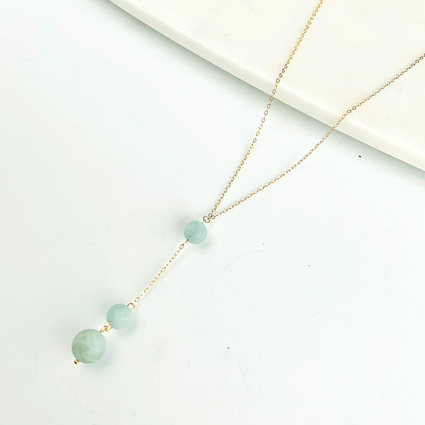 Carina Aquamarine Necklace - 14k Gold Fill