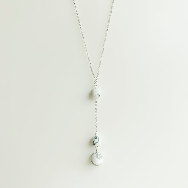 Carina Howlite Necklace - Sterling Silver