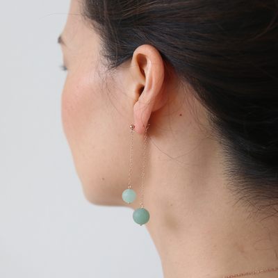 Carina Double Sided Aventurine Earrings