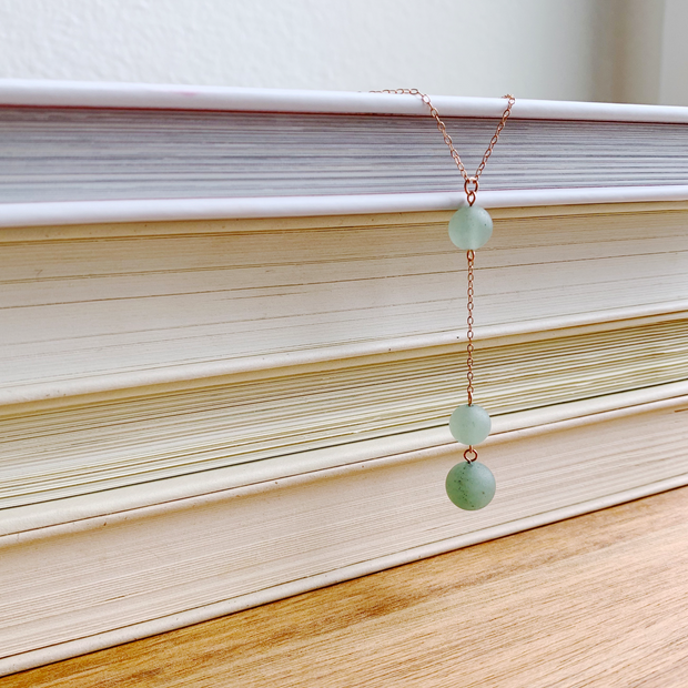 Carina Aventurine Necklace - 14k Rose Gold Fill