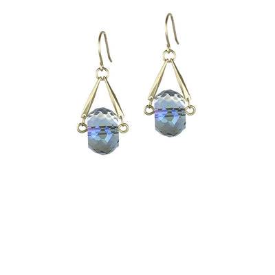 Celestial Earrings - Santorini Blue