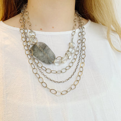 Chevalier Statement Necklace - Silver