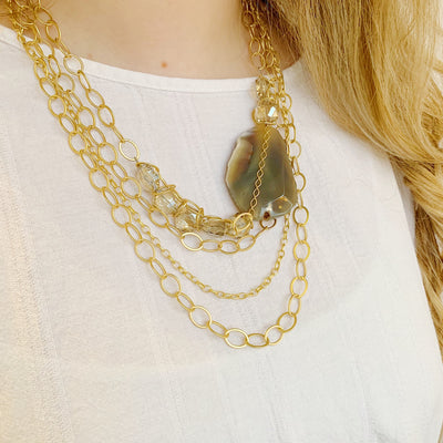 Chevalier Statement Necklace - Gold