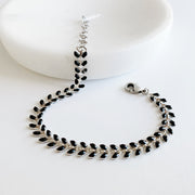 Chevron Bracelet - Black
