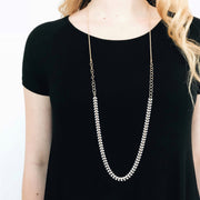 Chevron 2-in-1 Necklace - White