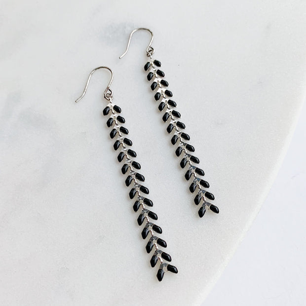 Chevron Earrings - Black