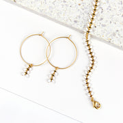 Chevron Bracelet + Hoops Set - White
