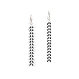 Chevron Earrings - Black 1