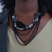 Chocolate Ivy Necklace - Black