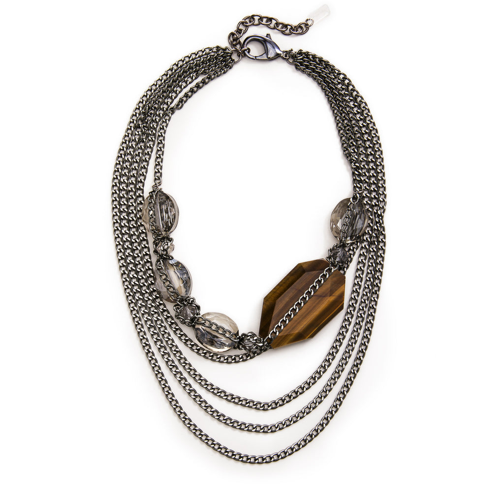 Chocolate Ivy Necklace - Gunmetal