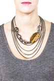 Chocolate Ivy Necklace - Gunmetal 2