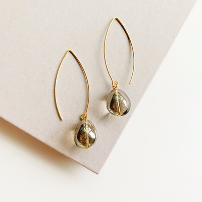 Coco Sleek Drop Earrings - Gold - Imperfect