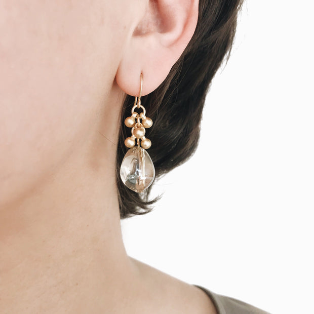 Coco Bauble Drop Earrings - Gold 2