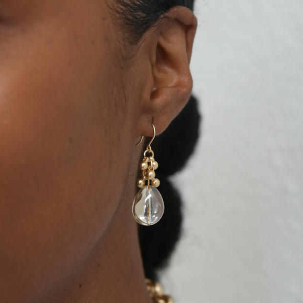 Coco Bauble Drop Earrings - Gold - Imperfect
