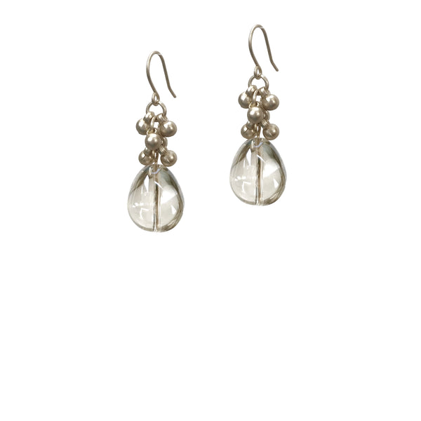 Coco Bauble Drop Earrings - Silver
