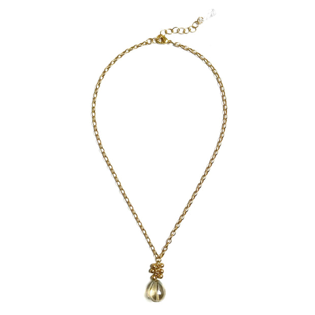 Coco Bauble Drop Necklace - Gold