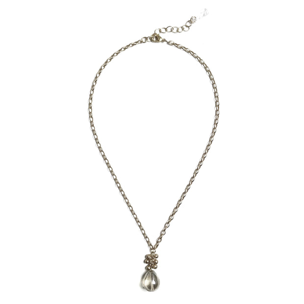 Coco Bauble Drop Necklace - Silver