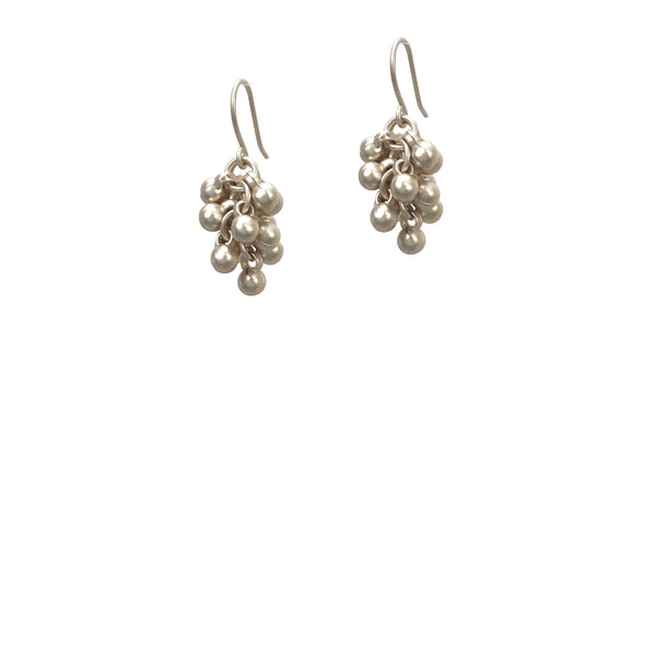 Coco Cluster Drop Earrings - Silver