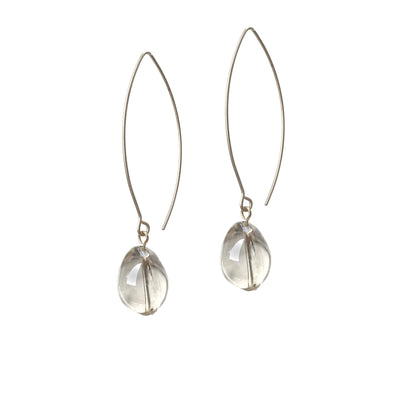 Coco Sleek Drop Earrings - Silver