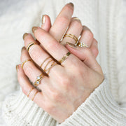 Collette Solitaire Stacking Ring - 14K Gold Fill
