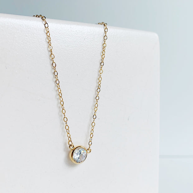Collette Solitaire Set - 14K Gold Fill
