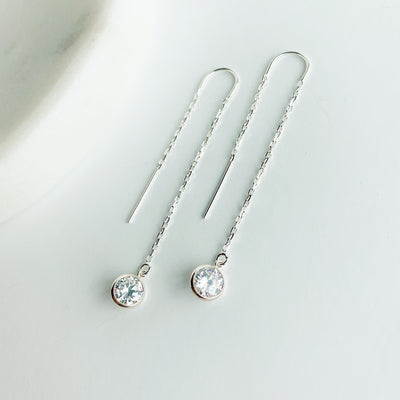 Collette Threader Earrings - Sterling Silver