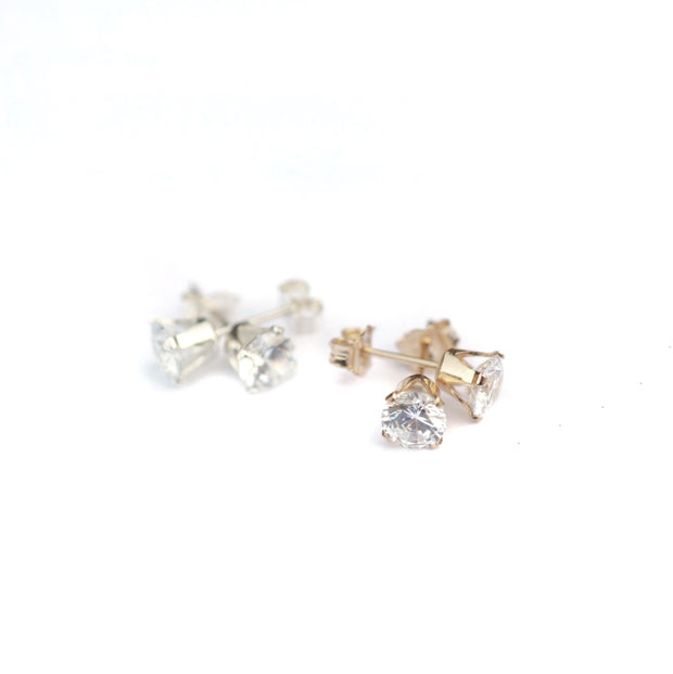 Collette Solitaire Studs - Sterling Silver