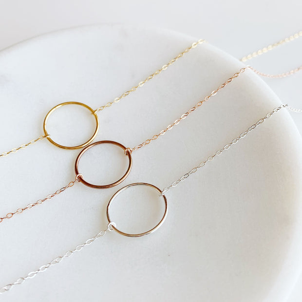 Crescent Circle Necklace - 14k Gold Fill