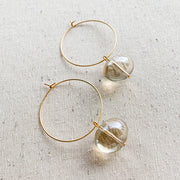 Hoop Drop Earrings - Champagne
