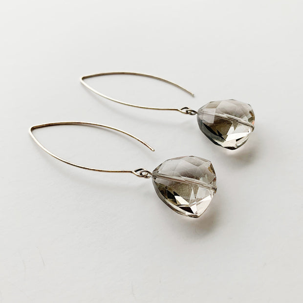 Sleek Drop Earrings - Smoky Triangle - Imperfect