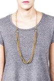 Crystalline Convertible Necklace - Gold 4