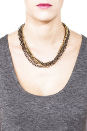 Crystalline Convertible Necklace - Mixed Metals 3