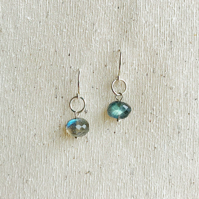 Delphine Labradorite Earrings - Sterling Silver