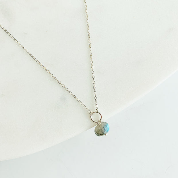 Delphine Labradorite Necklace - Sterling Silver