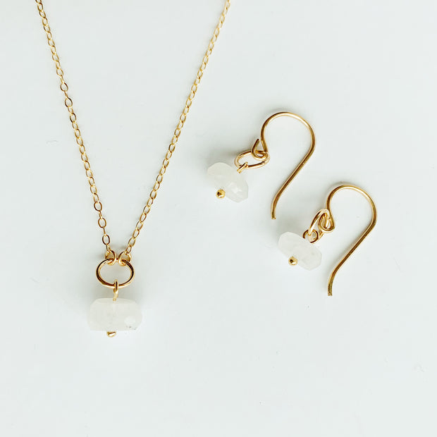 Delphine Moonstone Set - 14K Gold Fill