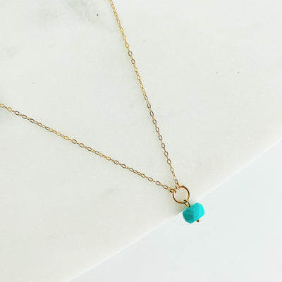 Delphine Turquoise Necklace - 14k Gold Fill