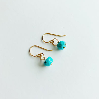 Delphine Turquoise Earrings - 14k Gold Fill