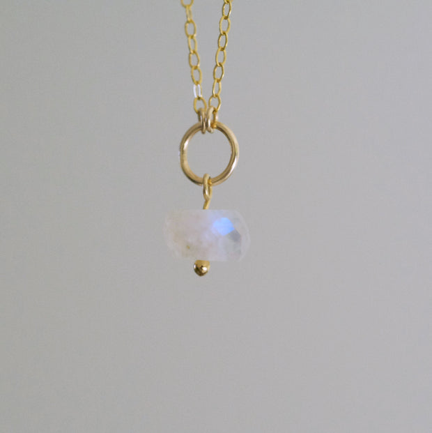 Delphine Moonstone Necklace - 14k Gold Fill