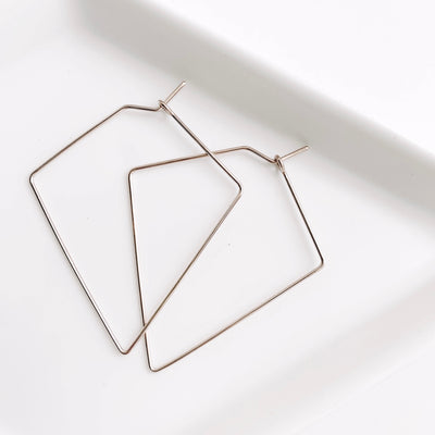 Weightless Diamond Hoops - Small - Sterling Silver