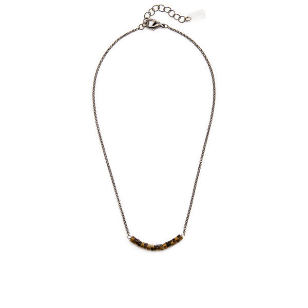 Disc Necklace - Tiger Eye