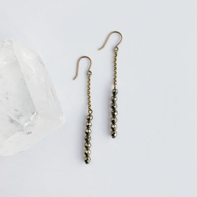 Disc Earrings - Pyrite