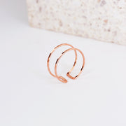 Double Band Ring - 14k Rose Gold Fill