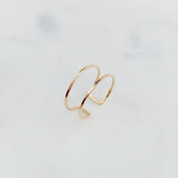 Double Band Ring - 14k Gold Fill
