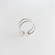 Double Band Ring - Sterling Silver