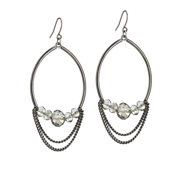 Edessa Earrings - Gunmetal